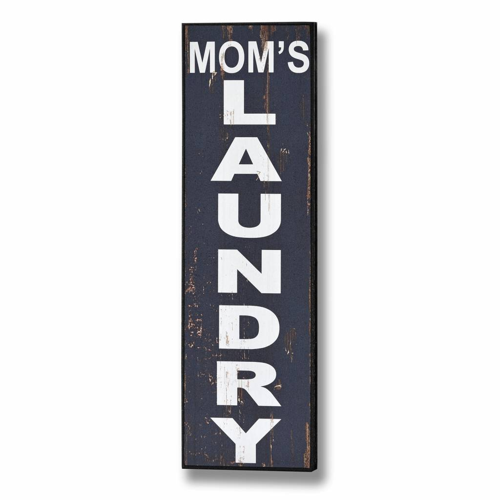Hill Interiors Mom's Laundry Wooden Plaque