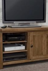 HomestyleGB Rustic Style Oak TV Plasma Unit