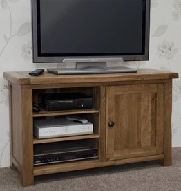 HomestyleGB Rustic Oak TV Plasma Unit