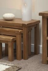HomestyleGB Rustic Oak Nest of Tables