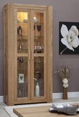 HomestyleGB Trend Oak 2 Door Glass Display Unit