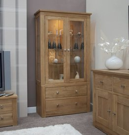 HomestyleGB Torino Oak  Glass Display Unit