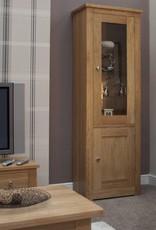 Torino Oak 1 Door Glass Display Unit