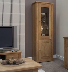 HomestyleGB Torino Oak 1 Door Glass Display Unit