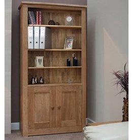 HomestyleGB Torino Oak 2 Door Bookcase