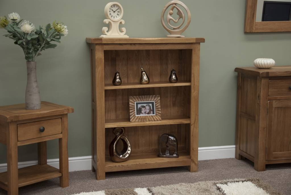 HomestyleGB Rustic Oak Small Bookcase