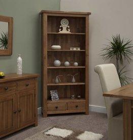 Rustic Oak Large Bookcase