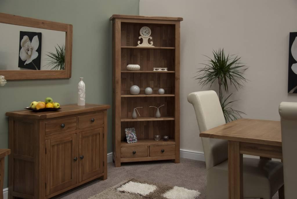 HomestyleGB Rustic Oak Large Bookcase