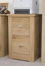 HomestyleGB Torino Oak Filing Cabinet