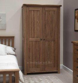 HomestyleGB Rustic Oak Wardrobe