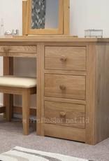 HomestyleGB Torino Oak Dressing Table & Stool