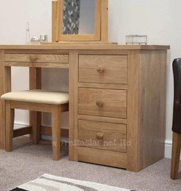 HomestyleGB Torino Oak Dressing Table & Stool