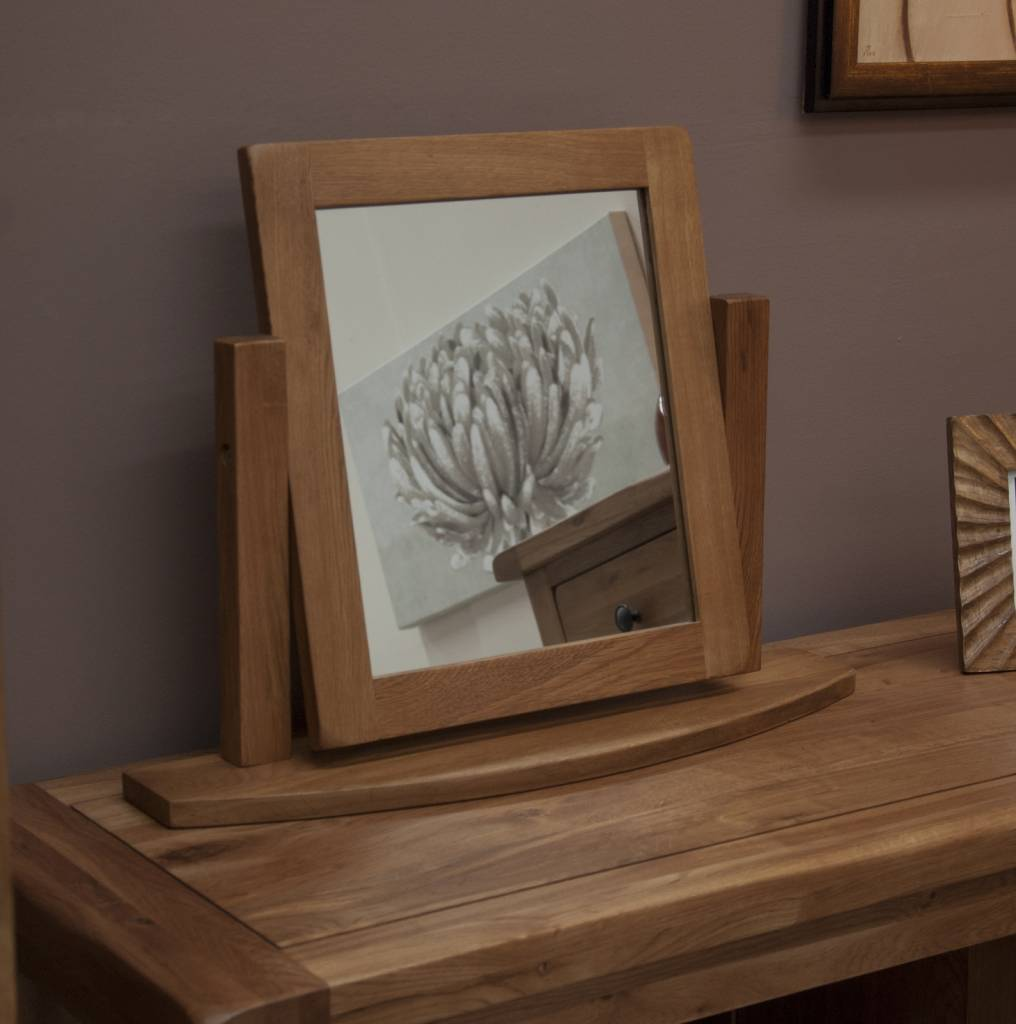 HomestyleGB Rustic Oak Dressing Table Mirror