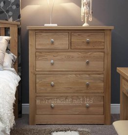 HomestyleGB Torino Oak 2+3 Drawer Chest