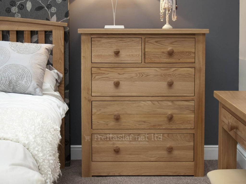 Torino Oak 2+3 Drawer Chest
