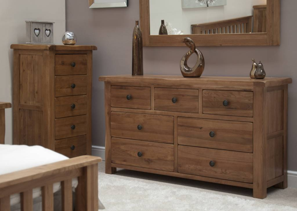 HomestyleGB Rustic  Oak Wide Chest