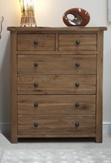 HomestyleGB Rustic Oak 2+4 Drawer Chest