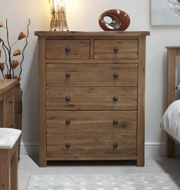 HomestyleGB Rustic Oak 2+4 Drawer Chest