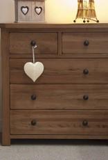HomestyleGB Rustic Oak 2+3 Drawer Chest