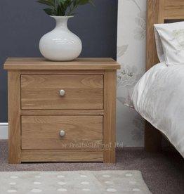 HomestyleGB Torino Oak Wide Bedside