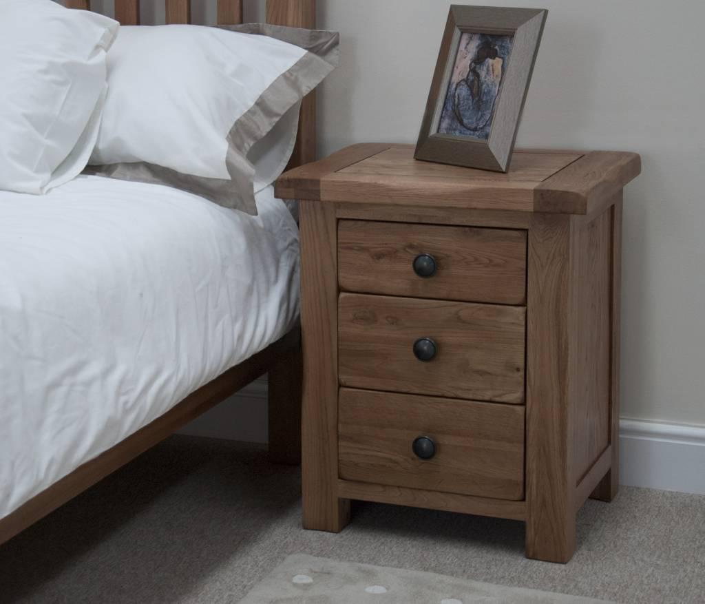 HomestyleGB Rustic  Oak Bedside