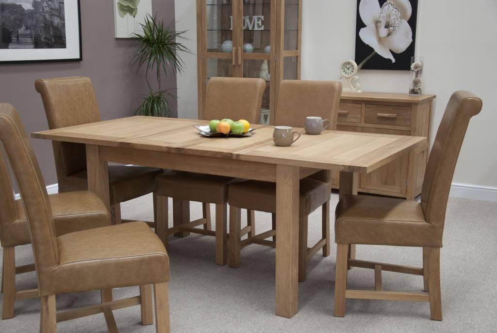 HomestyleGB Opus Oak Twin Leaf Dining Table