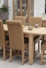 Opus Oak Twin Leaf Dining Table