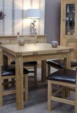 Small Draw Leaf Oak Extending Dining Table