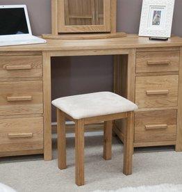 HomestyleGB Opus Oak Twin Pedestal Dressing Table Set