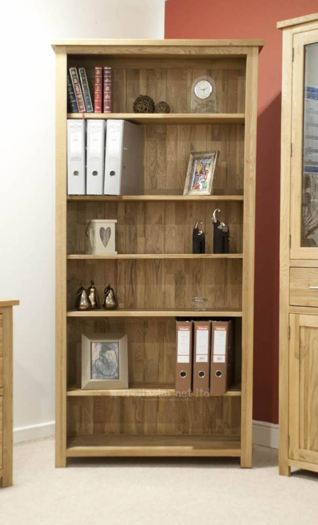 HomestyleGB Opus Oak Large Bookcase