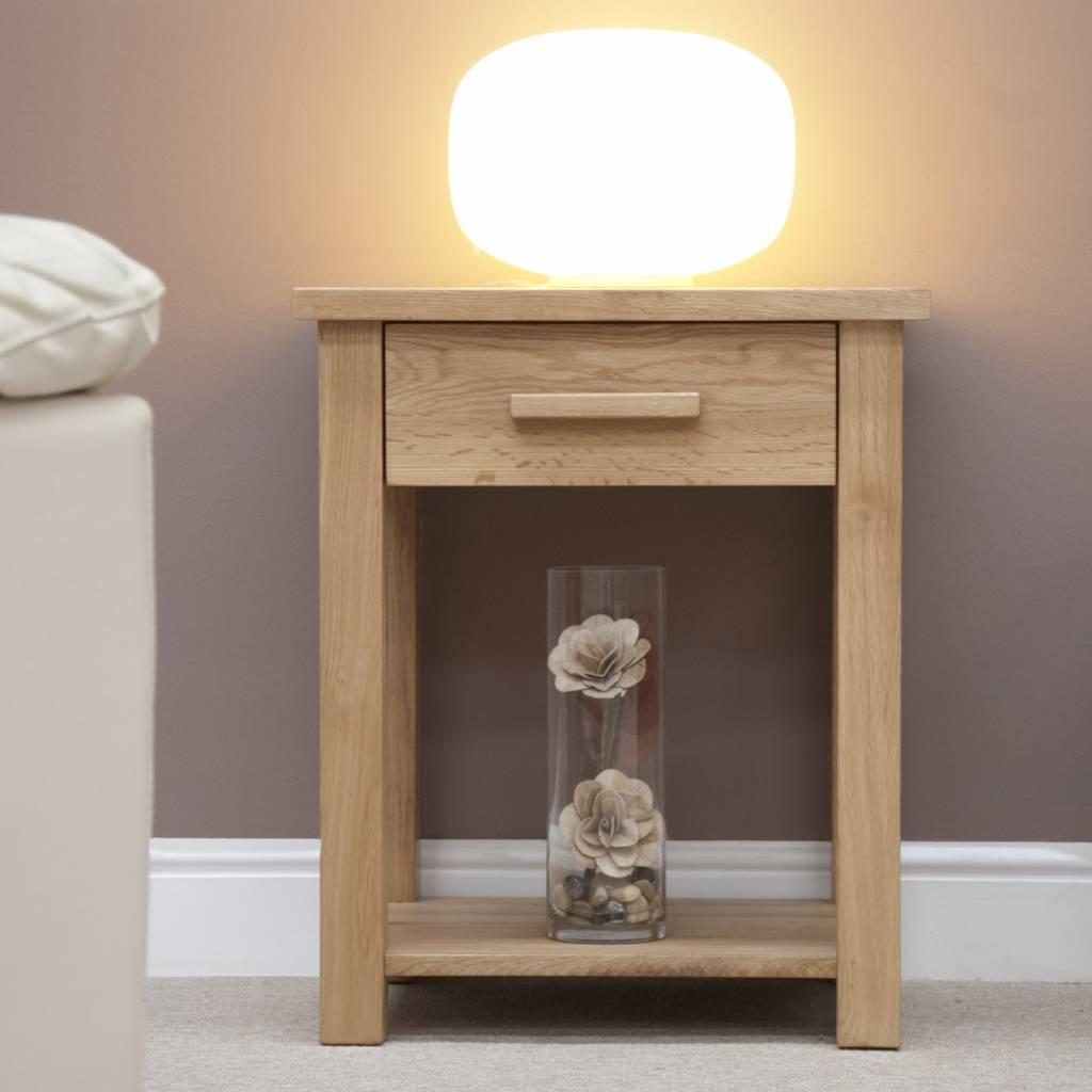 HomestyleGB Opus Oak Lamp Table