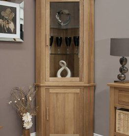 Opus Oak Corner Display Unit