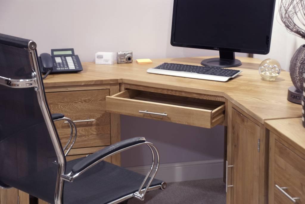 Opus Oak Corner Desk