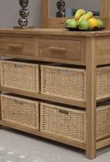 HomestyleGB Opus Oak Basket Console Table