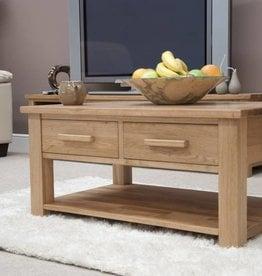 Opus Oak 2 Drawer Coffee Table