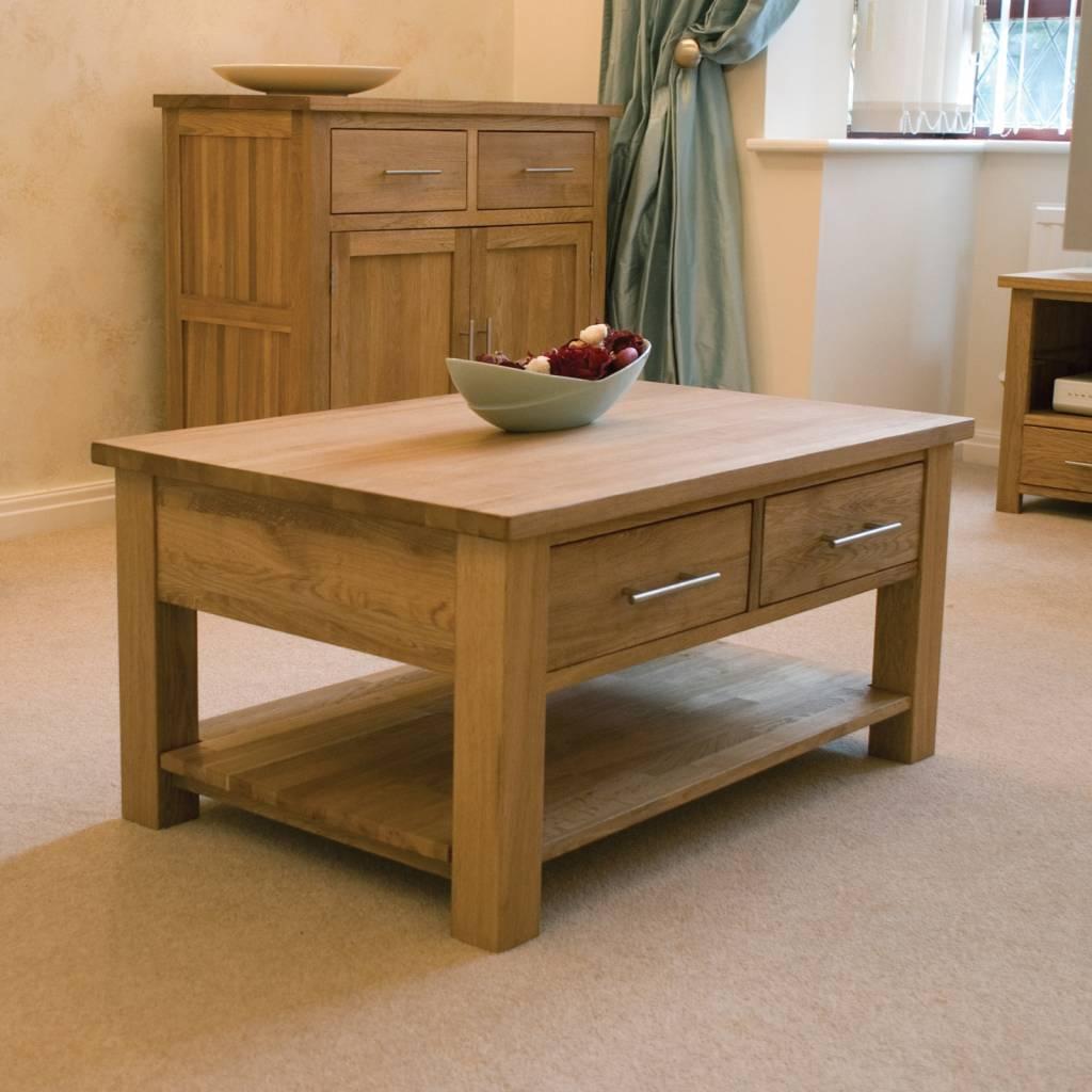 HomestyleGB Opus Oak 2 Drawer Coffee Table