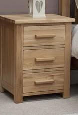 HomestyleGB Opus Oak 3 Drawer Bedside