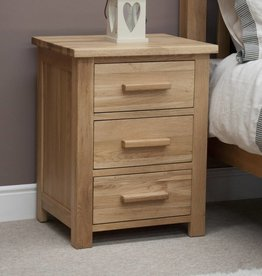 HomestyleGB Opus Oak 3 Drawer Bedside
