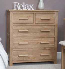 HomestyleGB Opus Oak 3+2 Drawer Chest