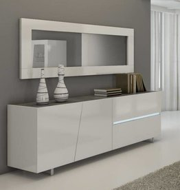 Lola Modern High Gloss Large Wall Mirror