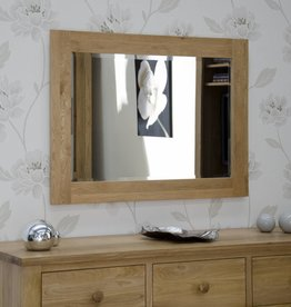 Opus Oak Wide Wall Mirror