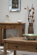 HomestyleGB Rustic  Oak Lamp Table