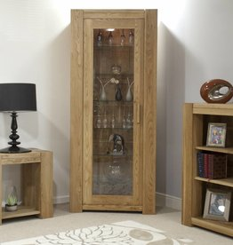 Trend Oak 1 Door Display Cabinet