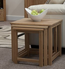 Opus Lyon Oak Nest of Tables
