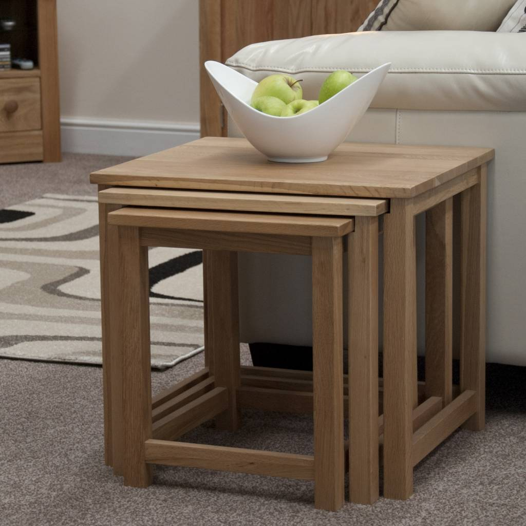 HomestyleGB Opus Oak Nest of Tables