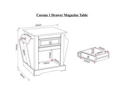 Corona Magazine Table