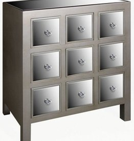 Opera Mirrored 9 Drawer Chest
