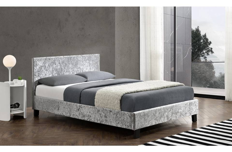 Berlin Crushed Fabric Bed