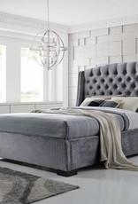 Brando Velvet Wingback Bed