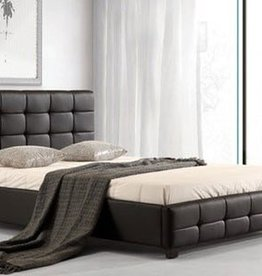 Lattice Leather Bed
